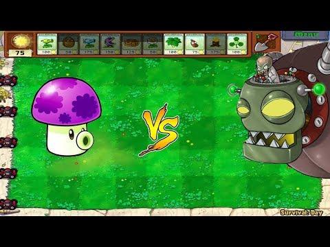 Plants vs Zombies Hack - Fume Shroom vs Dr. Zomboss