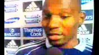 Njitap Geremi of Chelsea commenting on his free kick