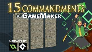 The 15 Commandments of Game Maker