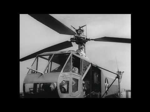 FIRST PUBLIC FILM OF ARMY HELICOPTER - SIKORSKY XR-4 (1942)