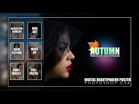 How to design beauty salon marketing and promotion design in photoshop cc and cs6 tutorial 2017