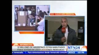 En medio de la lluvia avanzan elecciones primarias en Argentina