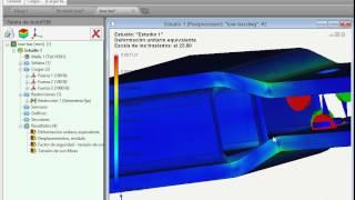 Análisis estático en AutoFEM (el sistema de análisis de elementos finitos)