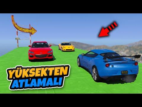 Eski Spor Arabalar Yüksekten Atlamalı Sağlamlık Testinde - GTA 5