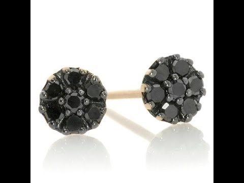 earrings round diamond ct gold stud pid basket certified white black prong