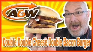 A&W Double Double Cheese Double Bacon Burger review | KBDProductionsTV