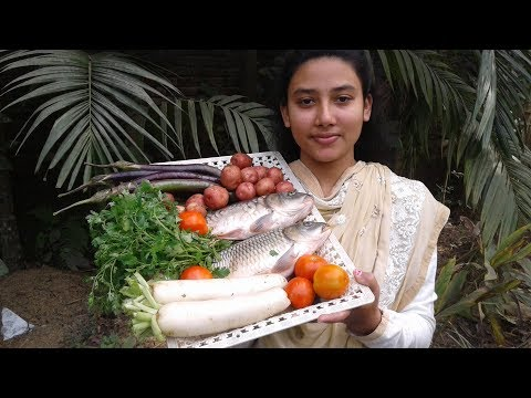 Traditional Vegetable Fish Curry Recipe | Healthy & Tasty | Cooking By Street Village Food