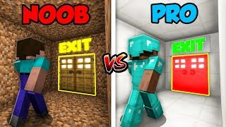 Minecraft NOOB vs. PRO: BASE ESCAPE in Minecraft!