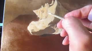 Пишем натюрморт с ракушкой (видеоурок 6) - многослойная живопись