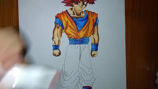 HD tô màu Goku ssjg phần 2