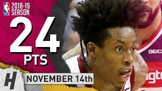 Collin Sexton Full Highlights Cavaliers vs Wizards 2018.11.14 - 24 Pts, 4 Ast, 3 Rebounds!