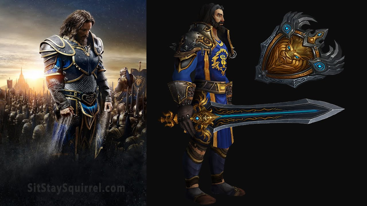 & Warcraft Movie Transmog - Anduin Lothar [Plate Transmog Sets] - YouTube