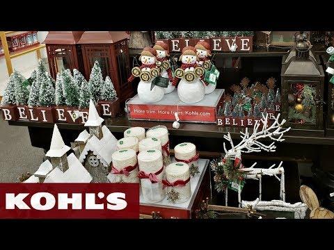 kohls christmas decor shop with me 2018