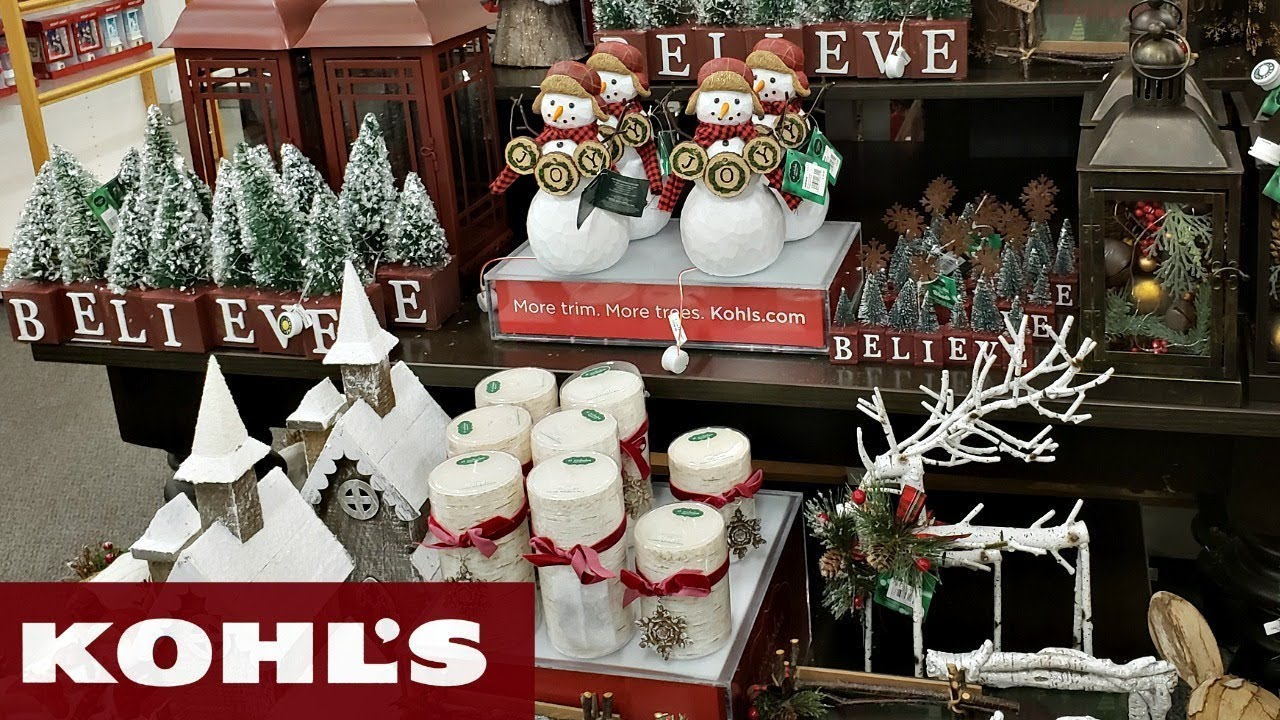 Is Kohls Open On Christmas Eve.Kohl S Christmas Decor Shop With Me 2018