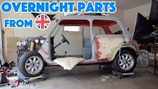 Honda Type-R Swapped Mini Cooper Build - Overnight Parts from Eng-Land (feat. Wires) - Part 3