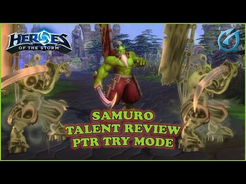 Grubby | Heroes of the Storm | Samuro - PTR - Talent Review in Try Mode