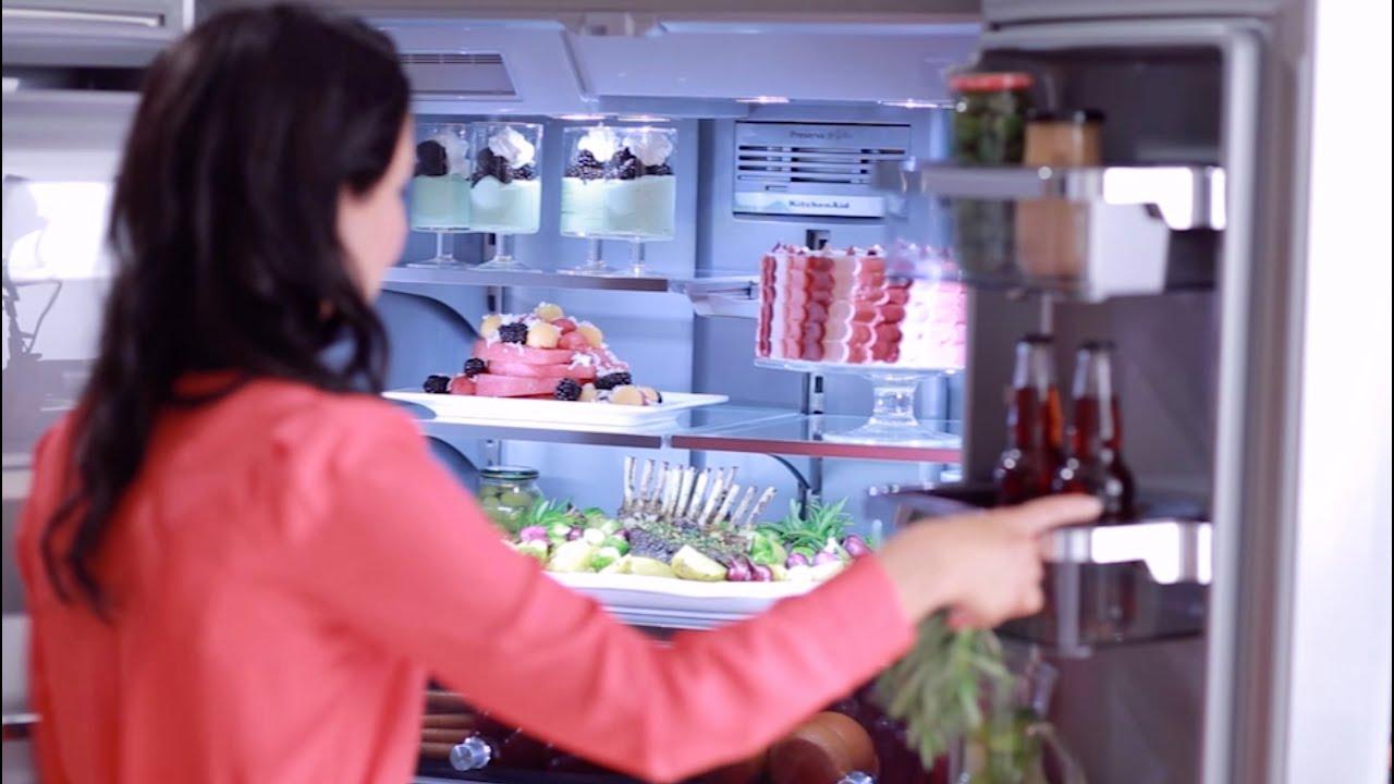 Kitchenaid 5 door refrigerator platinum interior design youtube rubansaba