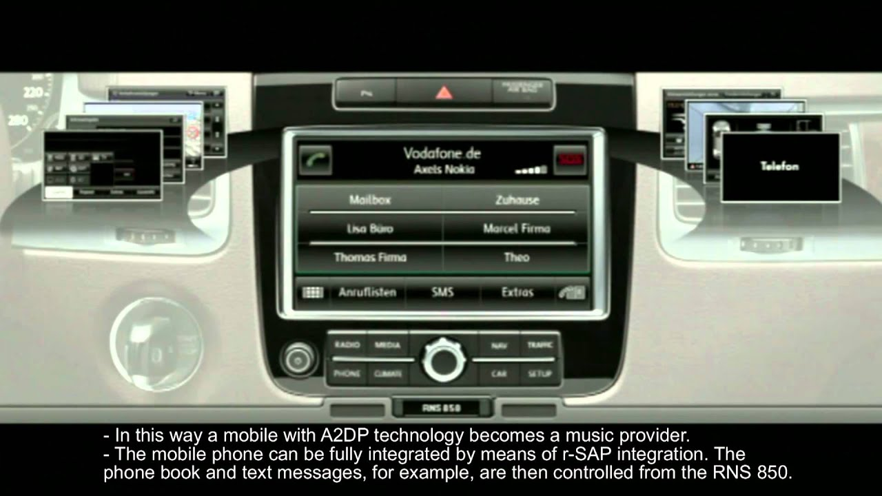 Volkswagen Touareg Animation RNS 850 Navigation - Most Popular Videos