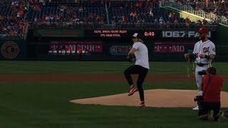 Katie Ledecky Throws Out Nationals First Pitch