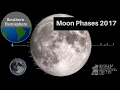 Moon Phases 2017 to Relaxing Music - Southern Hemisphere - Lunar Moon Cycles 2017