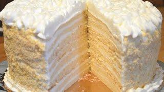 видео Вафельный торт со сгущенным молоком, творожным кремом и ягодами