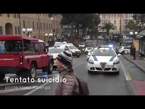 Tentato suicidio ad Albenga Ponte Rosso 10-03-2018