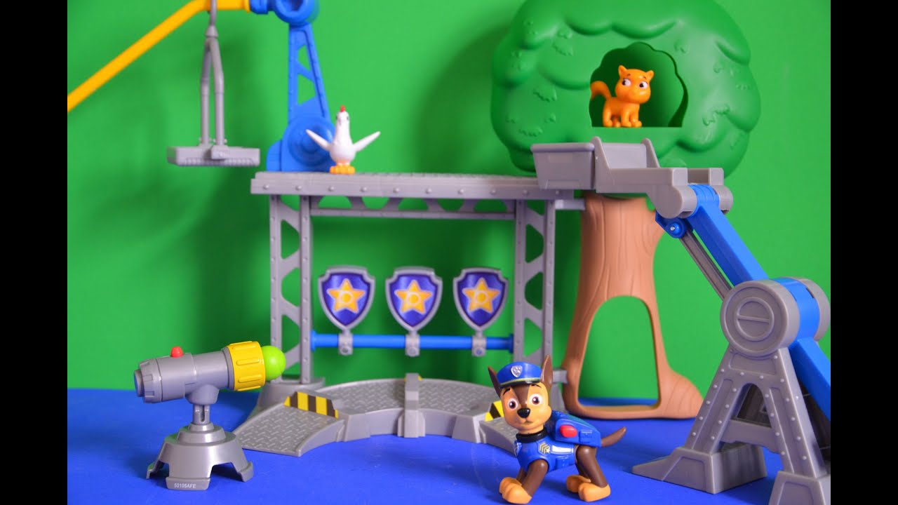 Paw Patrol Nickelodeon Training Center Unboxing Chase