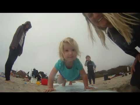 Surfing in Malibu with Katie, shot with the GoPro Hero HD camera
