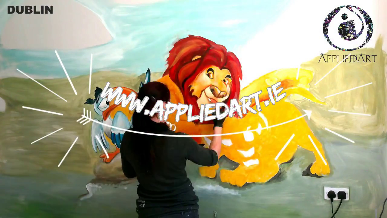 Speed Painting Lion King Wall Mural - YouTube
