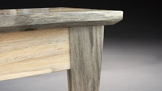 In this video I build a kitchen table out of Colorado beetle kill pine. The holes form the beetle bore are filled with epoxy. The legs are