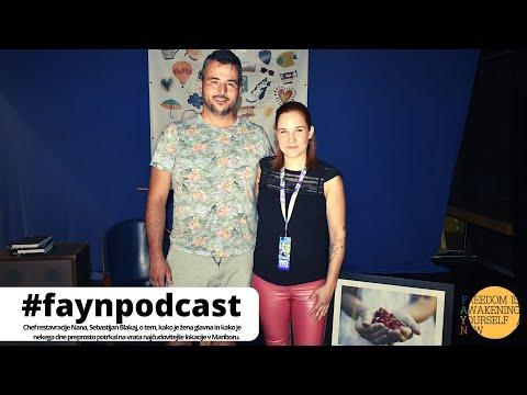 F.A.Y.N. Podcast z Majo Monrue: Chef Sebastijan Blakaj iz Nane o tem, kako se stvarem streže