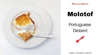 Molotof (Egg White Pudding)   Portuguese Dessert   Recipe   Receita   Receta