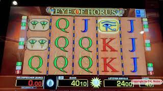 Casino Fun-Merkur M-BOX Freispiele bei Doppel Buch und Eye of Horus auf 50 Cent