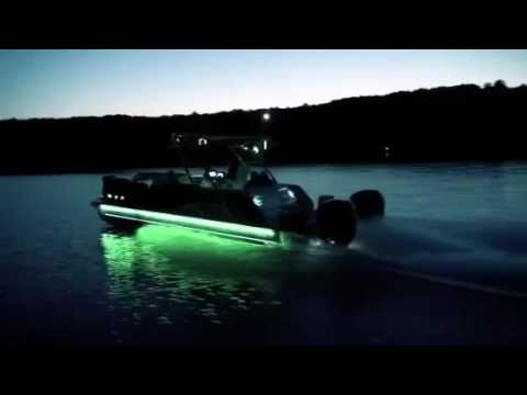 Monster nights in an Avalon pontoon boat by Jeff Gage at Plano Marine of East Texas