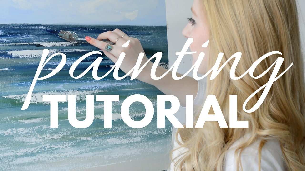 PAINTING TUTORIAL with Acrylic for Beginners | Katie ...