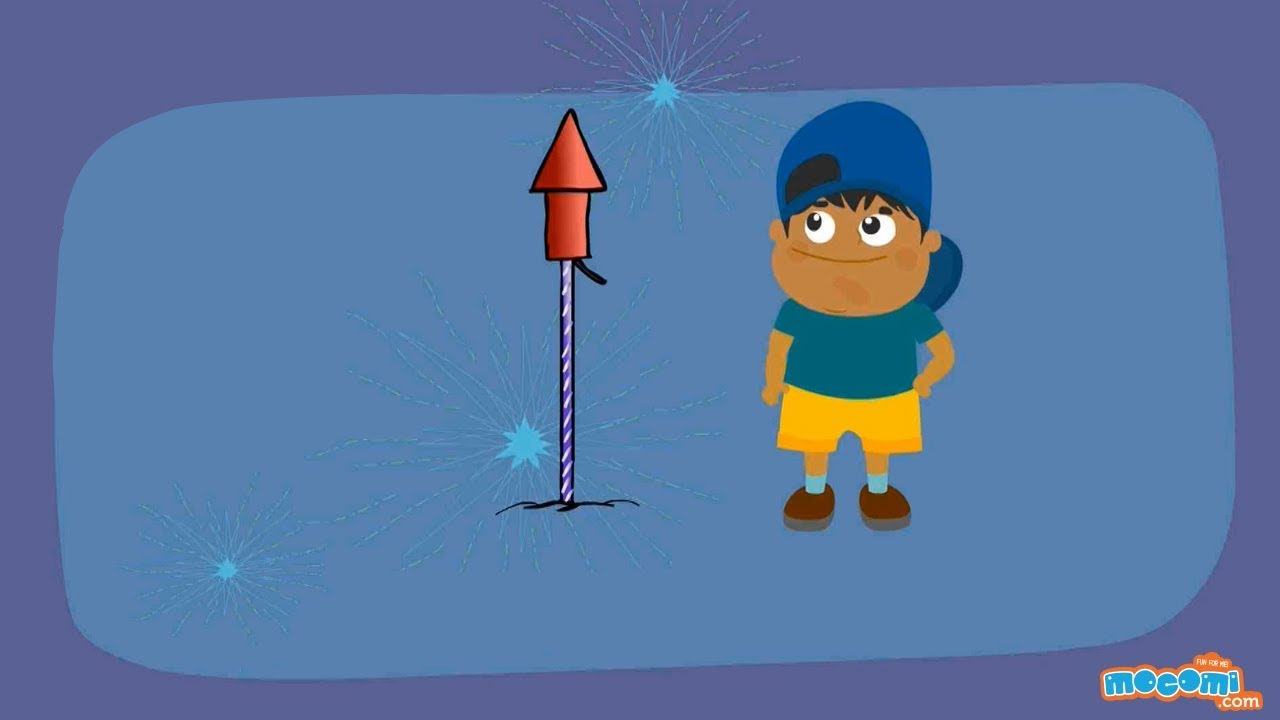how do fireworks work science for kids educational videos by mocomi [ 1280 x 720 Pixel ]