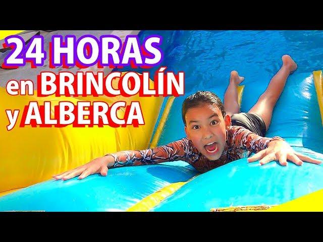 24 HORAS en BRINCOLÍN INFLABLE y ALBERCA | TV Ana Emilia
