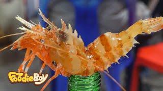 Fried Spiny Lebbeid Shrimp and Sashimi / Korean Street Food / DongMyeong Port, Sokcho Korea
