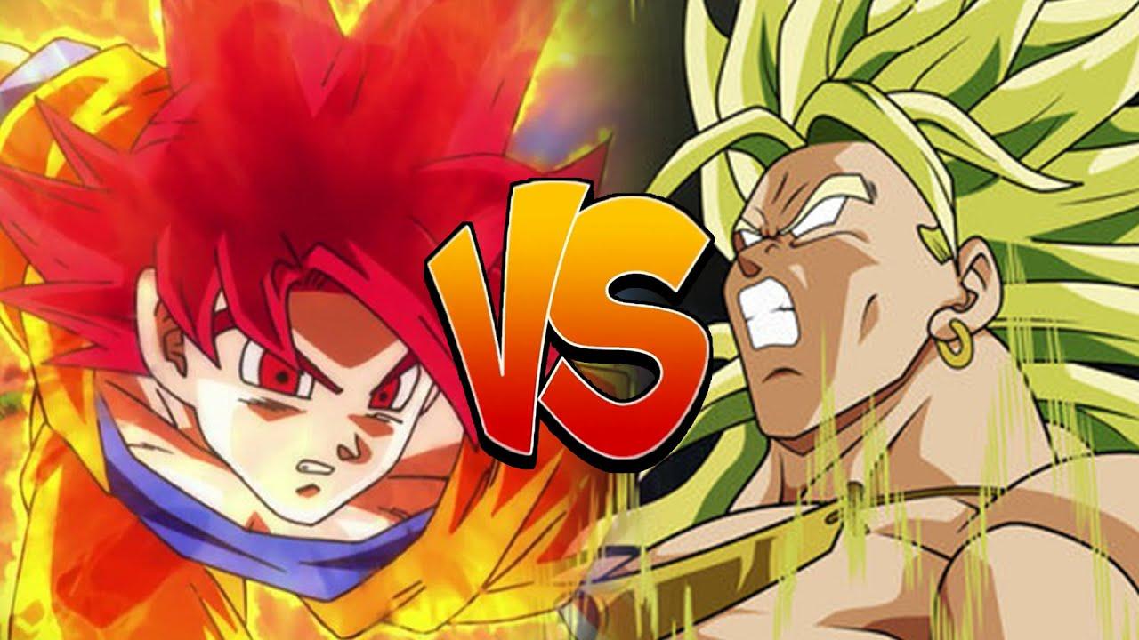 Super Saiyan God Goku Vs Legendary Broly