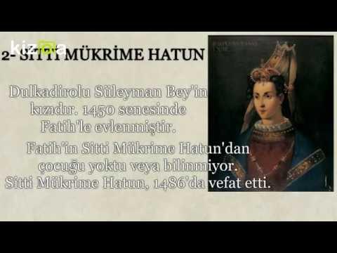 Fatih Sultan Mehmet'in Eşleri Kimdir?