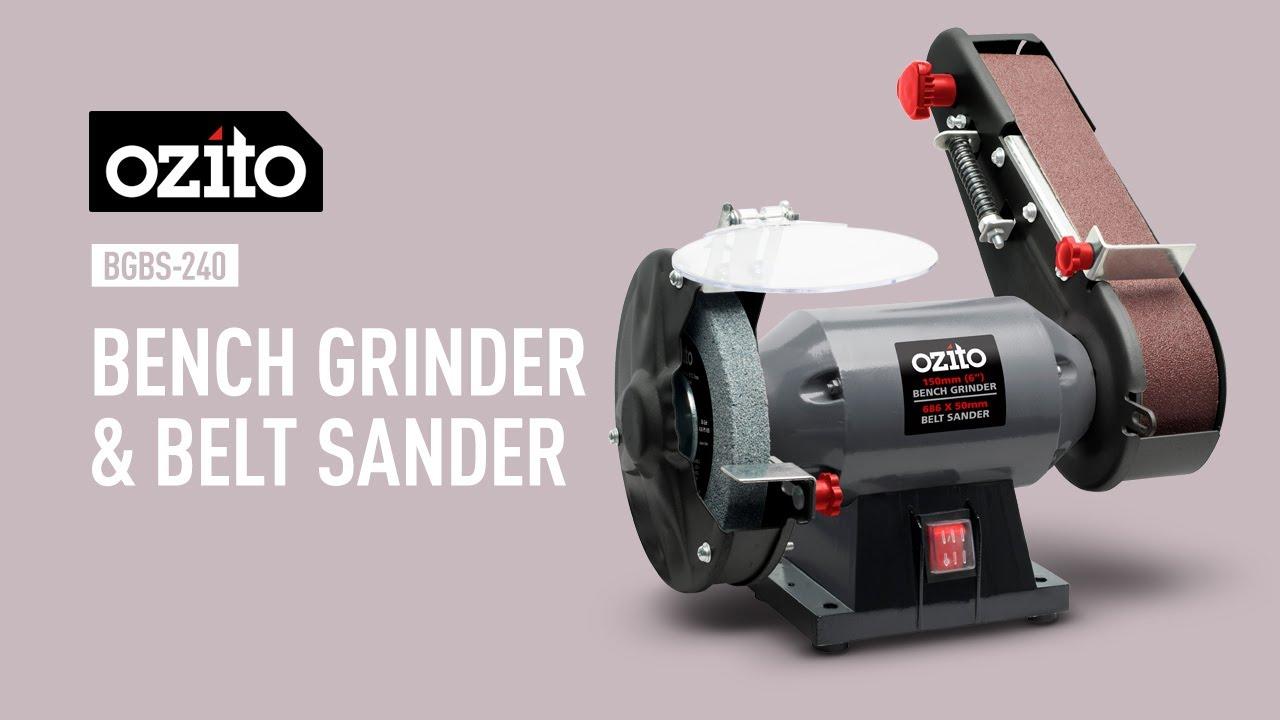 Ozito 150mm Bench Grinder Amp Belt Sander Product Video