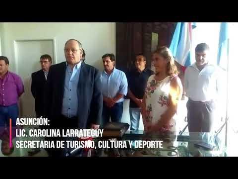 Asunción de la licenciada Carolina Larrateguy, Secretaria de turismo, cultura y deporte, Gualeguay