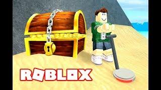 استخدام الة كشف الذهب فى جزيرة الكنز ماذا وجدت !! لعبة roblox