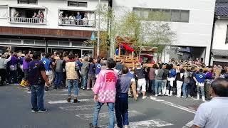 2018 京丹後市間人 秋祭り 喧嘩屋台 古間西 vs 谷
