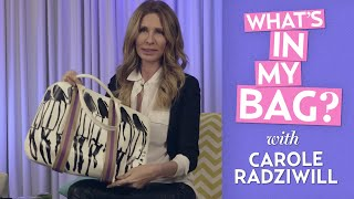 Carole Radziwill Doesn't Pay Her Bills! | What's In My Bag