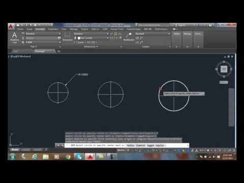 AutoCAD I 18-09 Adding Center Dashes And Centerlines
