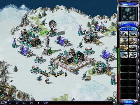 Yuri's Revenge Skirmish Gameplay: Britain vs Cuba as Hard AI on the map Alaskan Oil Spill