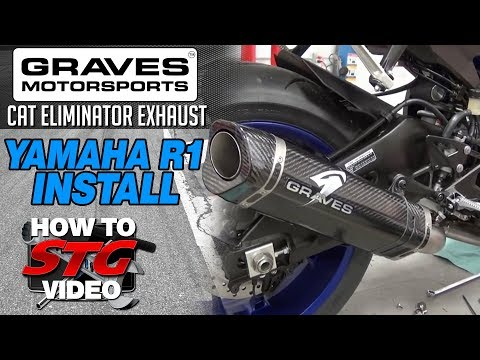 15 17 Yamaha Yzf R1 Graves Cat Eliminator Exhaust System Install