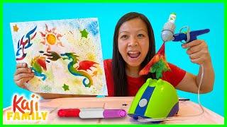 Mommy tries Crayola Marker Air Brush Spray Kit!