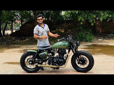 Bullet Modified   bike modification   Into Harley davidson I Springer Style   Vampvideo  